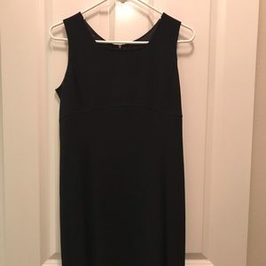 Armani Exchange Black wool shift dress